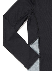 Black Active Base Layer Top (3-14 years)