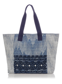 Multicoloured Embossed Shopper Bag