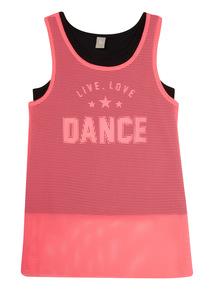 Pink Mesh Dance Vest (5 - 14 years)