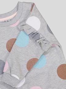 Grey Glitter Spot Sweatshirt (9 months-6 years)