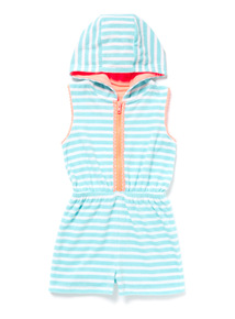 Blue Towelling Playsuit (3-14 years)