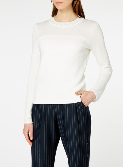 Cream Ripple Jumper