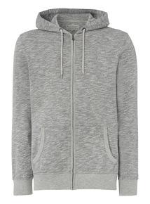 Grey Slub Hoodie
