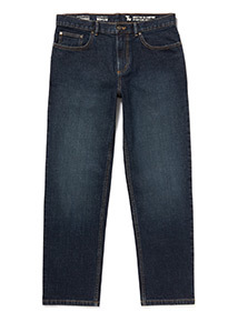 Dark Wash Denim Straight Leg Jeans