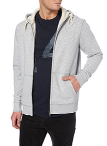 Light Grey Marl Zip Front Sweat