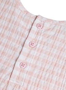 Pink Gingham Woven Pyjamas (0-24 months)