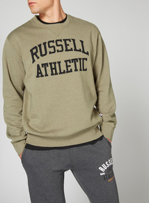 Russell Athletic Khaki Crew Neck Sweatshirt