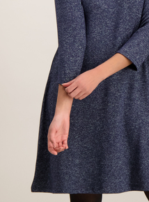 Blue Knit Look Dress