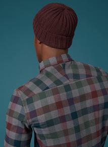 Premium Dark Red Chunky Knit Beanie Hat