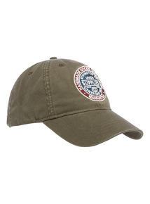Khaki Badge Baseball Cap