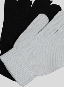 Black and Grey Magic Gloves 2 Pack