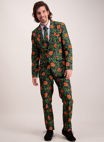 Halloween Multicoloured Pumpkin Print Suit (S- XXL)