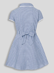 Online Exclusive Navy Plus Fit Gingham Dress (3-12 years)