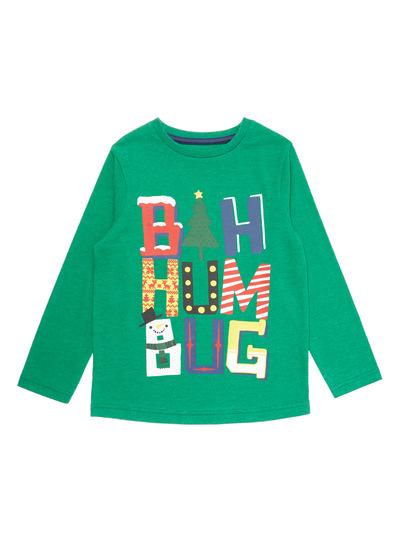Green Christmas Bah Humbug Tee (9 months - 5 years)