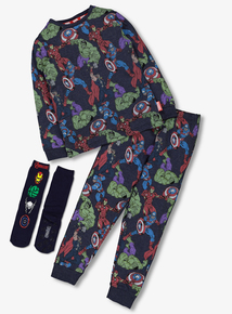 Marvel Avengers Multicoloured Pyjamas & Socks (2-12 Years)