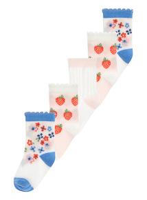 Strawberry Fields Socks 5 Pack