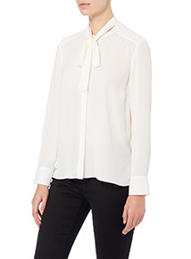 Cream Pussy Bow Blouse