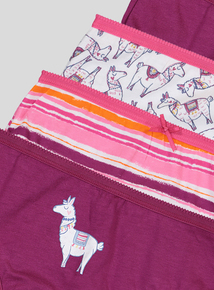 Pink Llama Print Briefs 10 Pack (2-12 years)