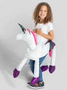 Online Exclusive Ride On Unicorn Costume (One Size)