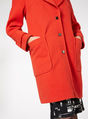 Thumbnail of SKU: EXAGGERATED COLLAR COAT:Red