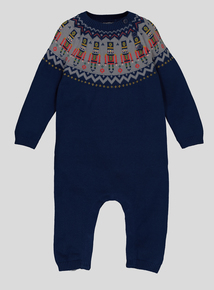 Navy Soldier Knitted Romper (0-24 months)
