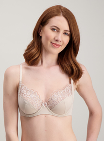 cea55a381c Nude Embroidered Full Cup Bra
