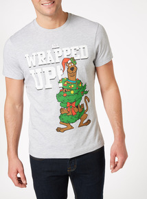 Grey Christmas Scooby Doo Tee