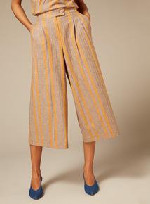 Premium Linen Stripe Culottes