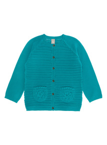 Green Textured Cardigan (9 months - 6 years)