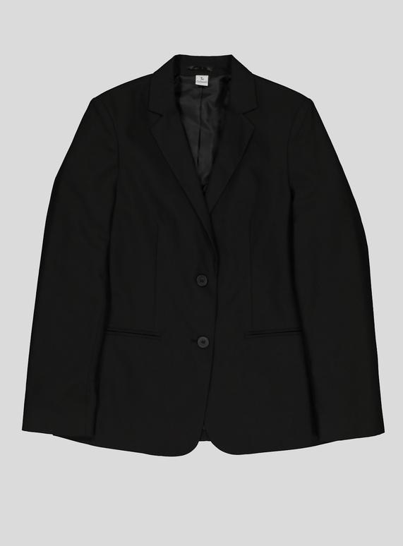 b7c358bd06ec Kids Girls' Fit Black Stain Resistant Blazer (10-16 years) | Tu clothing