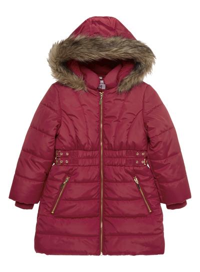 396b77e32 Kids Girls Red Side Buckle Coat (3-12 years)   Tu clothing