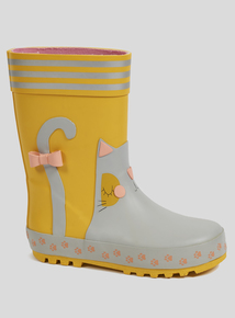 Yellow Cat Wellies (Infant 6-4)