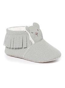 Grey Novelty Suede Boots (Newborn-12 months)