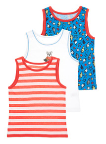 Multicoloured Superhero Vests 3 Pack (18 months-5 years)