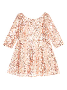 Pink Sequin Skater Party Dress (3-14 years)
