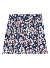 Girls Blue Plisse Daisy Skirt (3-12 years)
