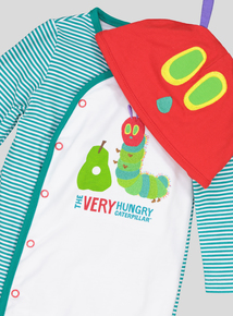 White 'The Very Hungry Caterpillar' Sleepsuit Set (Newborn- 12 months)