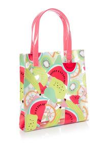 Multicoloured Watermelon Print Tote Bag