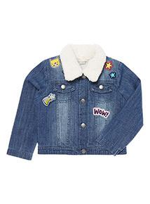 Blue Denim Borg jacket (9 months-6 years)