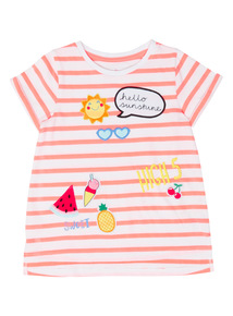 Pink Sunny Applique Top (9 months - 6 years)
