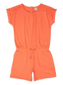 Orange Playsuit (9 months - 6 years)