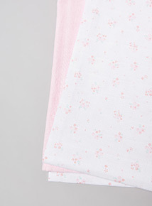 Pink and White Muslin Squares