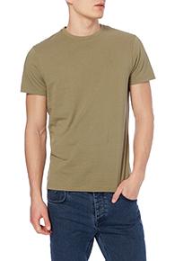 Khaki Basic Crew T-shirt