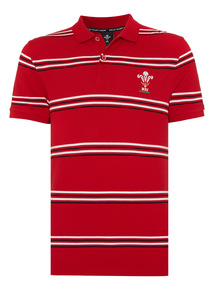 Red Welsh Rugby Union Polo Shirt
