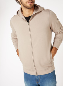 Oatmeal Zip Through Hoodie