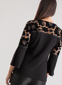 Premium Black Velvet Lace Top