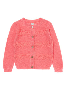 Pink Lace Knit Cardigan (9 months - 6 years)