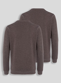 Charcoal Crew Sweatshirts 2 pack (8-16 years)