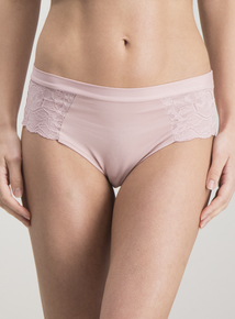 Pink & Purple Supersoft Lace Side Midi Knickers 3 Pack
