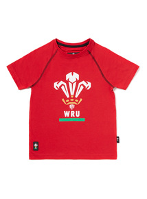 Red Rugby Welsh Union T-Shirt (1-14 years)
